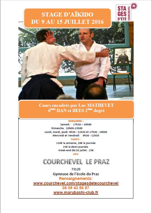 Luc Mathevet aikido courchevel