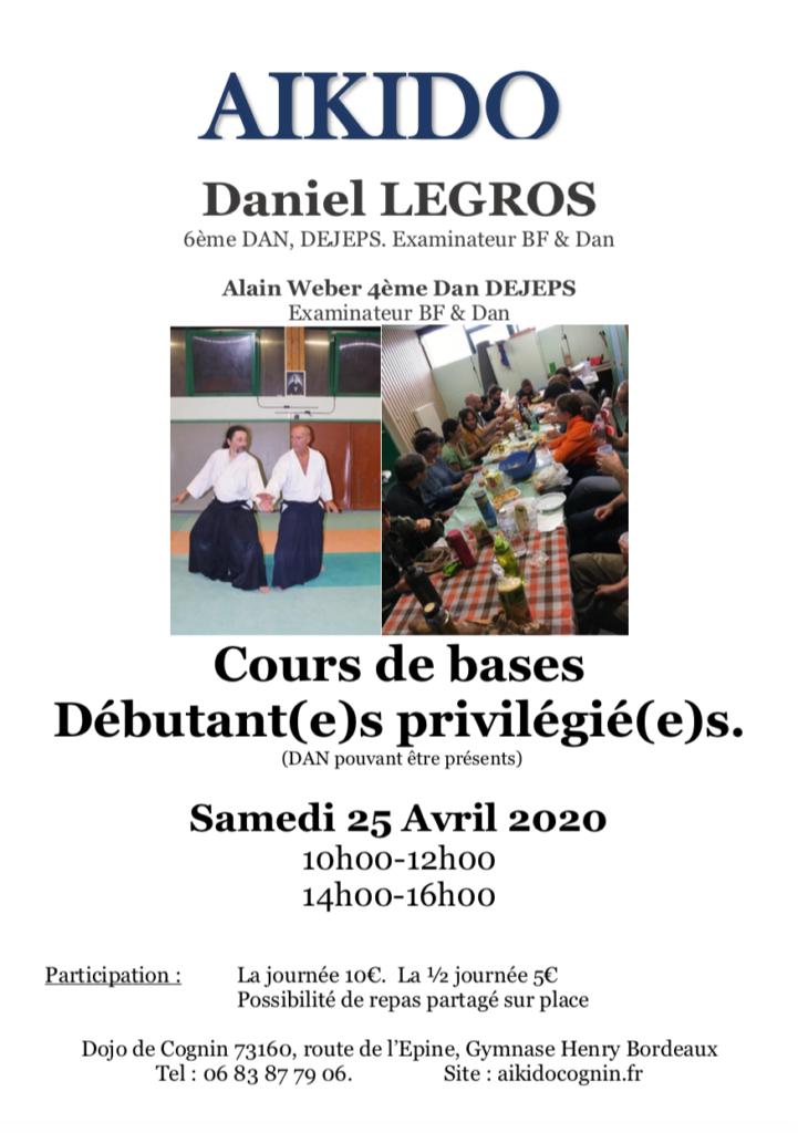 stage avril 2020 débutant aikido